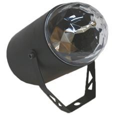 Proiettore 3 Led Lampada Cm7x14,5 Disegni Bolle Multicolor