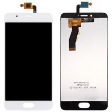 Ricambio Schermo Display Lcd + Touch Screen Unit Digitizer Bianco Per Meizu M5s + Kit Attrezzi Smontaggio