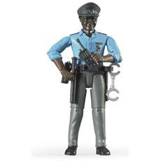 Poliziotto Pelle Scura con Accessori Scala 1:16