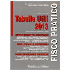 Tabelle utili 2013. Manuale pratico per professionisti e aziende