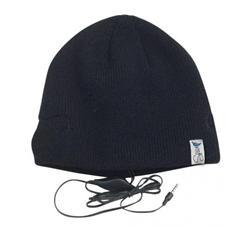 Cappello con cuffie integrate. Colore nero