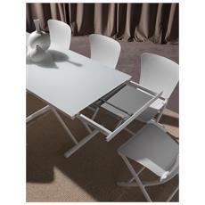 Tavolo Happening-cristallo Extra White-metallo-cromato Comodi, Confortevoli Di Design