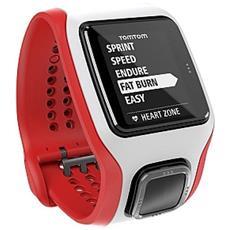 Sportwatch Runner Cardio GPS Colore Rosso / Bianco