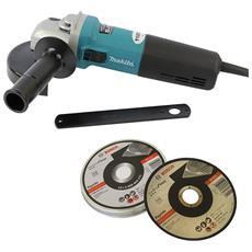 Smerigliatrice Angolare 9565HRZ 125 mm 1100 Watt + Disco di Taglio Inox 125 X 1 mm