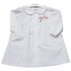 bece22bd53 PRIMO DELLA CLASSE - Grembiule Asilo Bianco Scuola Materna Per Bambina  Taglia 50 - 3 Anni