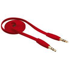 Cavo Audio Flat da 3,5 mm lungo 1 metro - Rosso