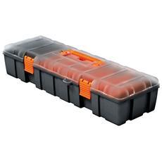 Cassetta portaminuterie in plastica 9 scomparti cm 46x17xH 9