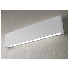 Lampada Da Parete Moderna Led 2x2g11 Metallo Grigio L 50 X 12 Cm Rettangolare