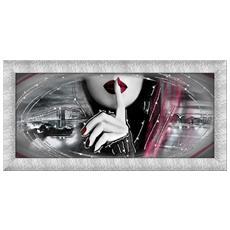 Quadro Su Tela Prince 65x135 Cm New York Purple Silence Silver