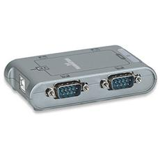 IC Intracom USB / 4x Serial, USB, 4 x RS-232 9-pin, Maschio / femmina, Argento, RoHS WEEE CE, 225g