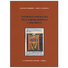 Elementi essenziali dell'ordinamento canonico