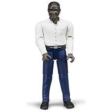 Personaggio Uomo Pelle Scura con Jeans Scuri Scala 1:16