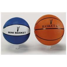 Pallone Mini-Basket gomma Nylon N 5 B Colore Blu