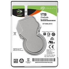 """Hard Disk Ibrido Interno FireCuda 1 TB 2.5"""" Sata III 6 Gb / s 5400 rpm Buffer 128 MB"""