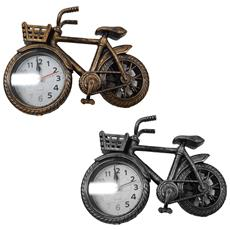 Orologio Sveglia Tavolo Forma Bicicletta Bike Cestino Analogica Allarme Colorata Design Casa Ufficio Fashion Colore Casuale