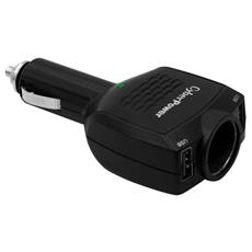 Dual Usb Car Charger 10w Usb Plus Dc Output Cigarette In