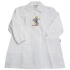 550f6dc46b PRIMO DELLA CLASSE - Grembiule Asilo Bianco Scuola Materna Per Bambino  Taglia 55 - 4 Anni