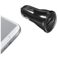 Caricabatteria da auto 12/24V con porta USB 1A - Nero