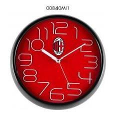 Orologio Da Parete Con Cassa In Abs Cm 30 Colore Rosso / nero Milan Ac - 00840mi1