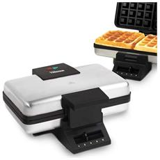 Macchina Da Waffle Wf2141 1000w Acciaio Nero