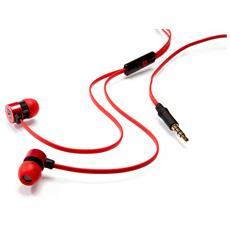 """49110, Stereofonico, Rosso, Interno orecchio, Cablato, 3.5 mm (1/8"""") , 1,2m"""