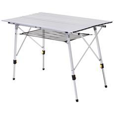 Regolabile in Altezza su 3 Posizioni con 4 sedie AMANKA in Alluminio Tavolo Pieghevole da Campeggio 120 x 60 cm