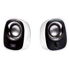 180 - 20000 Hz, 4 Ohms, 2 x 1W, 70 dB, 0.95 m, USB, Nero / Bianco