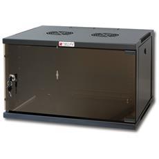 "Armadio Rack 19"" a Muro 9U prof. 600 Nero Assemblato I-CASE ER-1009B60"