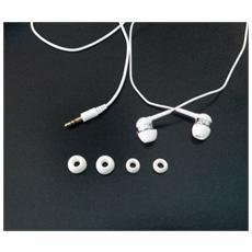Auricolari Stereo Con 4 Cuscinetti Di Ricambio Colore Bianco