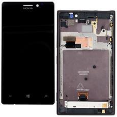 Ricambio Lcd Schermo Display + Touch Screen Unit Digitizer + Frame Nero Originale Nokia Per Lumia 925 + Kit Attrezzi Smontaggio