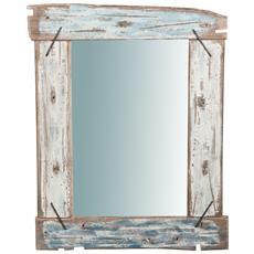 Specchio Da Parete In Legno Massello L65,5xpr3,5xh86 Cm