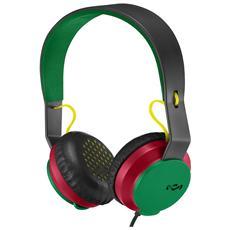 Cuffie con Microfono Cablato Colore Verde e Nero