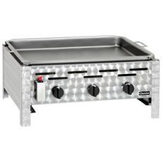 1062203 Grill a gas da tavolo 3 fuochi 11 kW