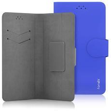 """Classic Detachable Custodia Universale a Libro per Dispositivi fino a 5"""" Colore Blu"""