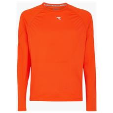 T-shirt Uomo Maniche Lunghe Sun Lock Xl Arancio