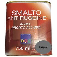 Smalto Sintetico Antiruggine E Di Finitura In Gel 0,75 Lt Grigio Lucido - 33005