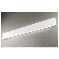 Lampada Da Parete Moderna Led 4x2g11 Metallo Bianco L 120 X 12 Cm Rettangolare