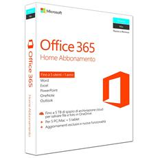 Office 365 Home Premium 1 Licenza per un Anno 5 PC / Mac + 5 Tablet (Senza Disco)