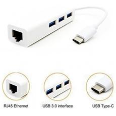 Hub Usb Type C 3 Porte Usb 3.0 E 1 Porta Ethernet Gigabit