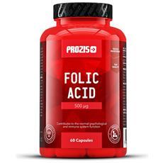 Acido Folico 500 Mcg 60 Capsule - Sistema Immunitario Stanchezza Fatica Salute-