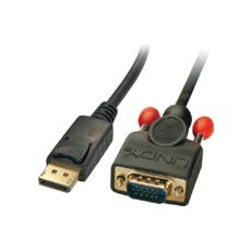 DP-VGA-MM-500, DisplayPort, VGA (D-Sub) , Maschio, Maschio, Oro, Nero