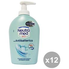 Set 12 Sapone Liquido Antibatterico 250 Ml. Saponi E Cosmetici