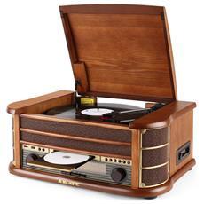 Stereo Giradischi Vintage TT34 33-45-78 giri USB / CD / Cassetta Sintonizzatore AM / FM RICONDIZIONATO