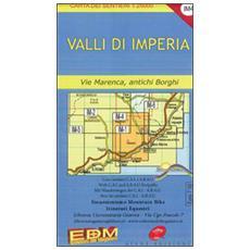 IM 4 valli di Imperia, l'entroterra. Carte dei sentieri di Liguria