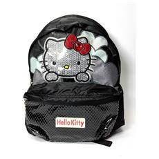 Zaino Hello Kitty Nero Brillantini Chich - 2 Scompartimenti