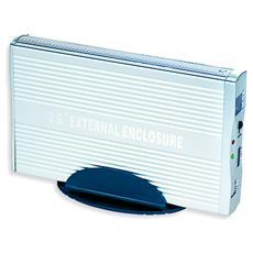 "EE3-SATA-2, 8,89 cm (3.5"") , SATA, Argento, Alluminio, Windows 98 / ME / 2000 / XP, SATA"