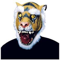 Maschera Tigre Con Capelli In Peluche