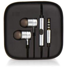 Kit Auricolari Hf Stereo Android Box Mi Metallico Argento