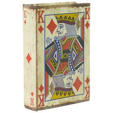 Set 3 Contenitori Per Carte Da Gioco 10x3x14 Cm