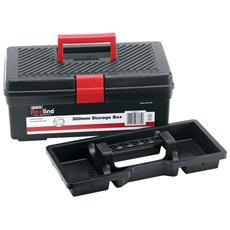 Cassetta Porta Attrezzi In Plastica Valigetta A 2 Scomparti 300x140x95mm Draper
